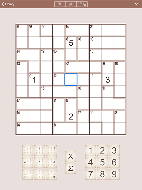 SumSudoku for iPhone and iPad (iPad)