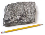 This piece of raw graphite comes from the Bogala Mine in Sri Lanka, and it is quite pure.