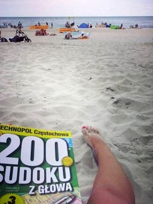 SAND BEACH SUDOKU - 21 Inspiring Sudoku Moments Captured by Instagramers #5