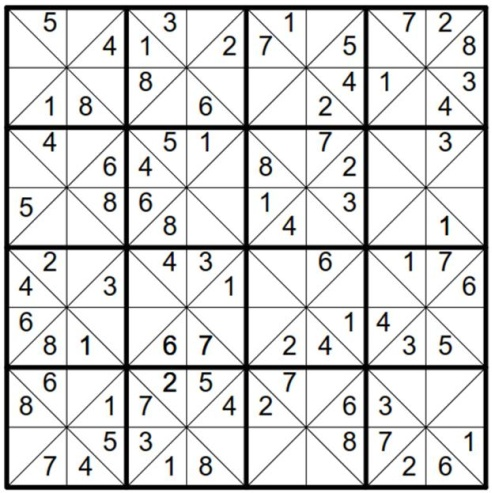 Will Sudoku: Example 1 puzzle